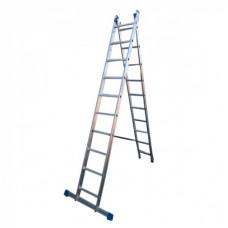 Лестница алюмин. двухсекц. 9ступ. LS209