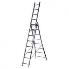 Лестница алюмин. трехсекц. 9ступ. LS309