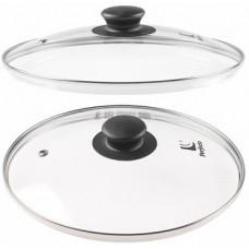 25-024020 Крышка стекл. 240мм с мет. ободом. круглая PERFECTO LINEA