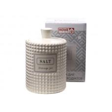 Банка для сыпучих продуктов кер. Salt  650 мл/10. 8*10. 8*15 см (арт. HC1910060-6.25SA. код 221189)