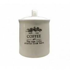 Банка для сыпучих прод. керам.  Coffee  625мл HC21A29-C 232307